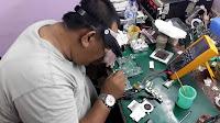 cara solder komponen laptop