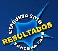 Resultados Examen de Admisión CEPRUNSA III FASE 2016
