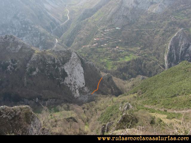 Ruta Puente Vidosa, Jucantu: Bajada del Sedo de la Cruz