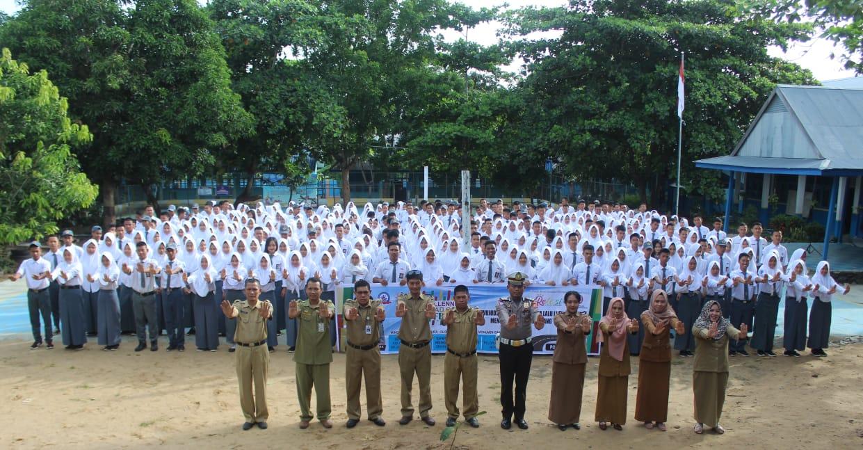 Satlantas Res Sidrap Sosialisasikan MRSF 2019 di Sekolah-sekolah
