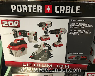 Easily take on diy projects or work around the home with the Porter Cable 5-Tool Combo Kit