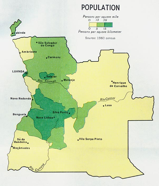 Angola | Mapas Geográficos de Angola