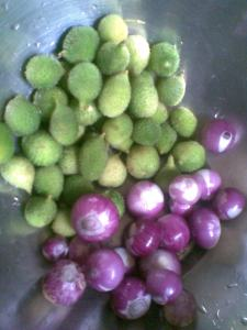 kakode (teasle gourd) subzi