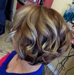 Brown Blonde Balayage Short Hair