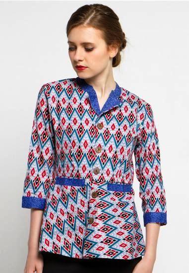 32 Baju Atasan Batik Wanita Pendek Info Top