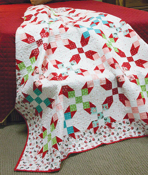 Red Hots Baby Quilt Free Pattern