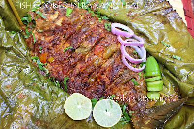 fish wrapped in banana leaf recipes an authentic fish recipe from kerala cuisine which is yummy flavorful and worth a try. malabar recipes ayeshas kitchen shares the recipe of indian fish recipes traditional dish  karimeen pollichath / banana leaf recipes