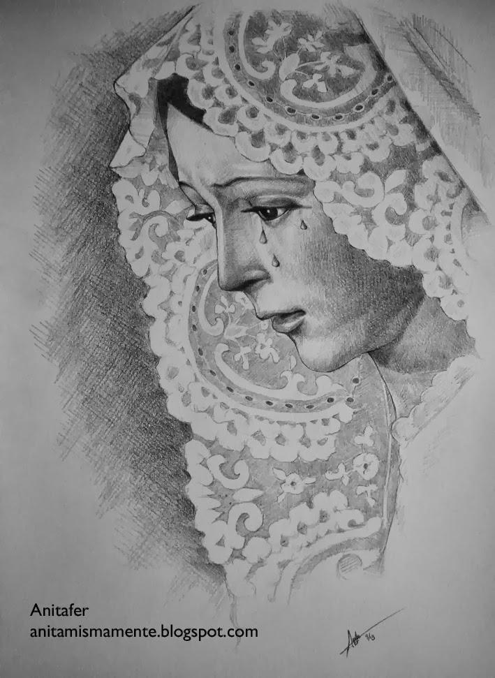Anitafer Artist Virgen De La Esperanza Macarena De Sevilla Dibujo