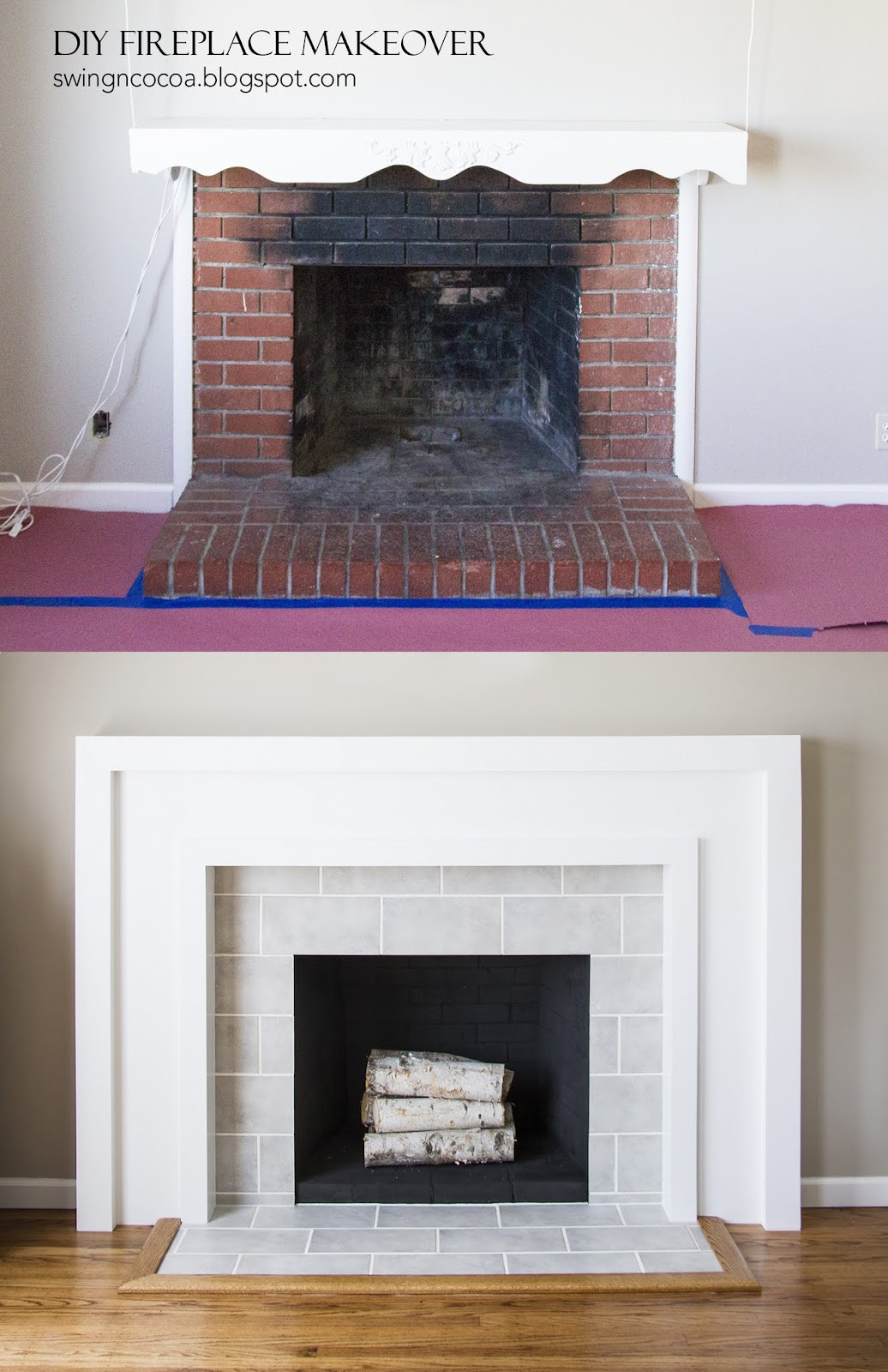 Fireplace Makeover Part 3 Deliciously Done