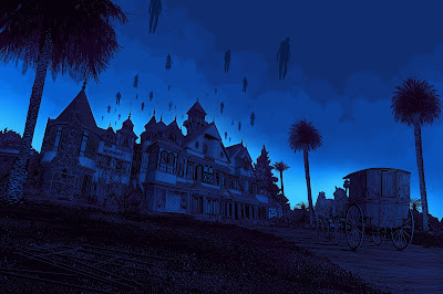 The Winchester Mystery House Art Print by Daniel Danger