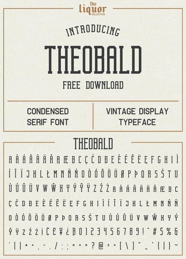 Vintage Font Gratis Terbaik - Theobald Free Vintage Font