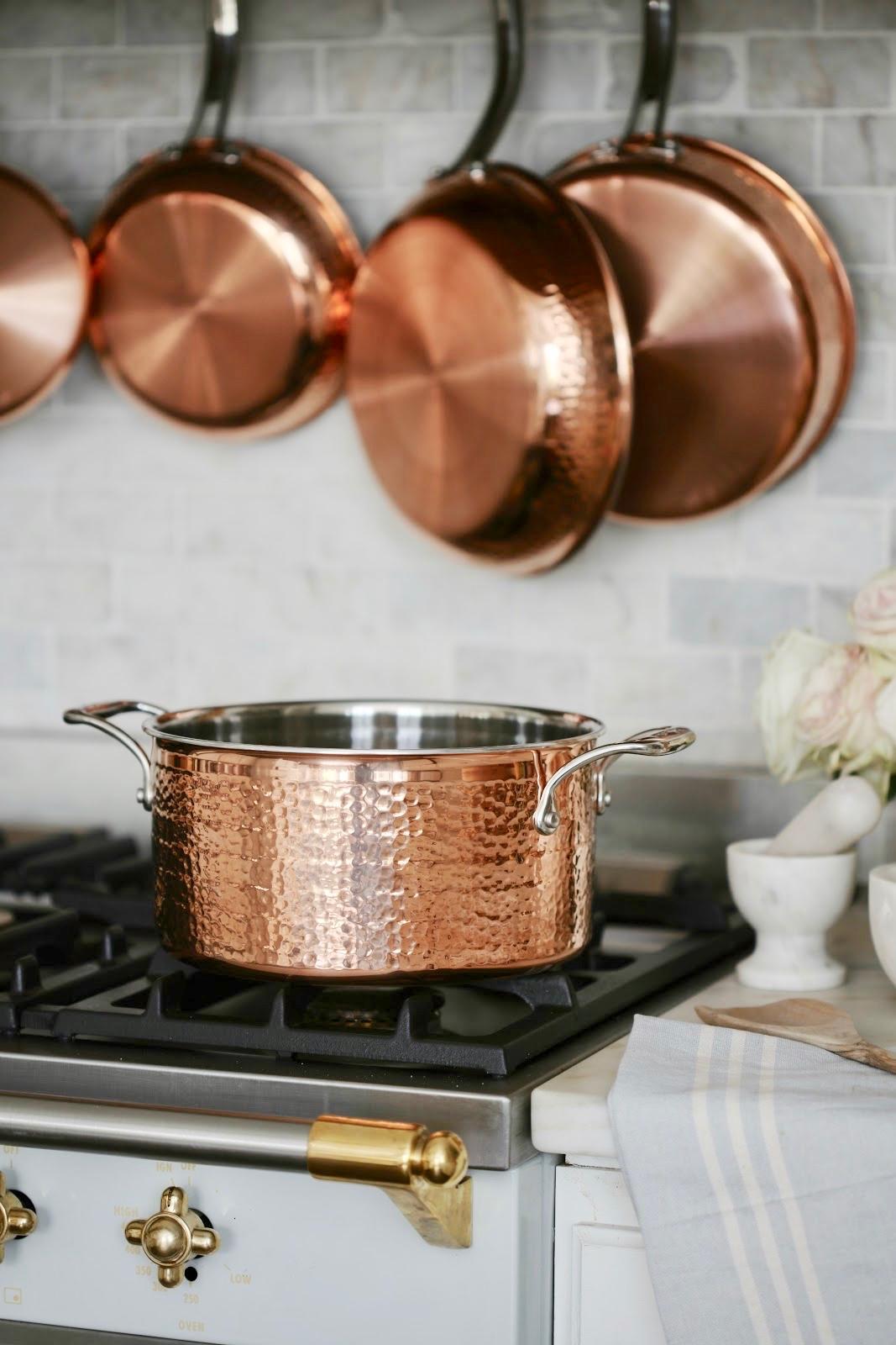 french cottage kitchen style copper pots pans giveaway. Black Bedroom Furniture Sets. Home Design Ideas