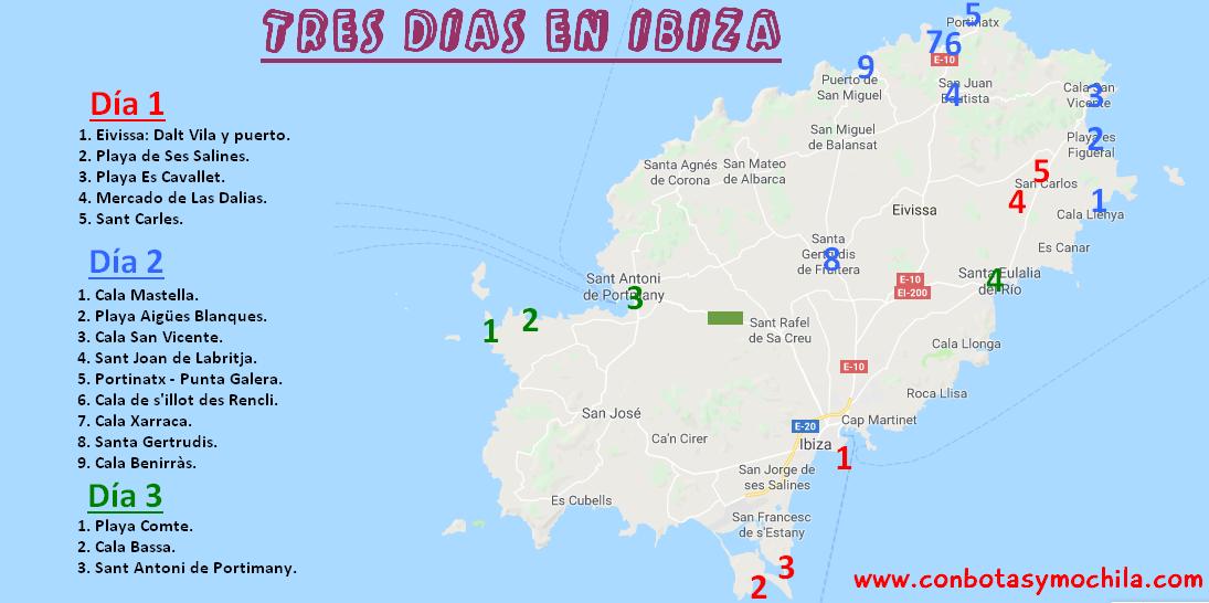 Mapa De Ibiza Calas.Viajar A Ibiza En Abril La Version Mas Amable De La Isla Con Botas Y Mochila