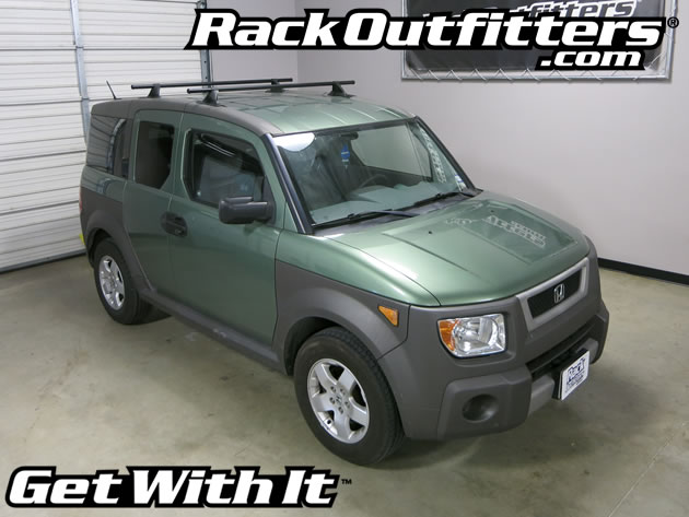 Honda Element Yakima Control Tower Round Bar Roof Rack '09