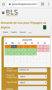 Prendre un rendez-vous de demande de visa Schengen Espagne