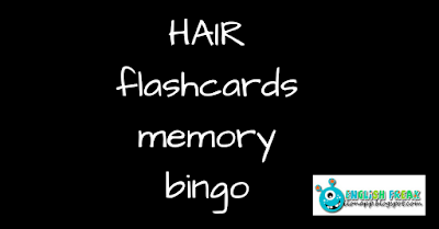 Hair - flashcards, memory, bingo