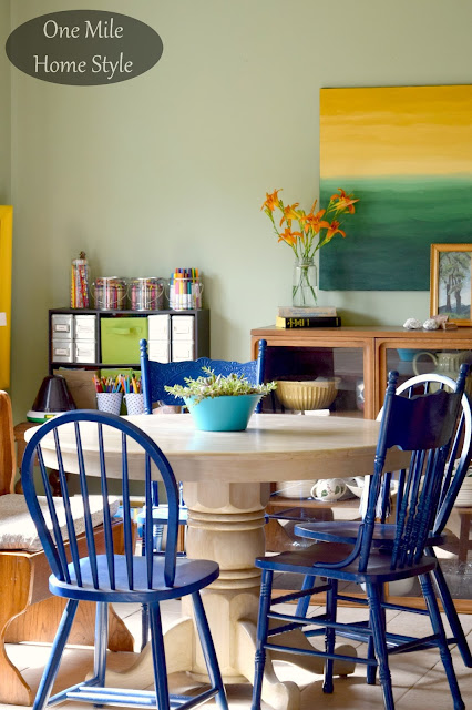 Dining Room Summer Decor - One Mile Home Style