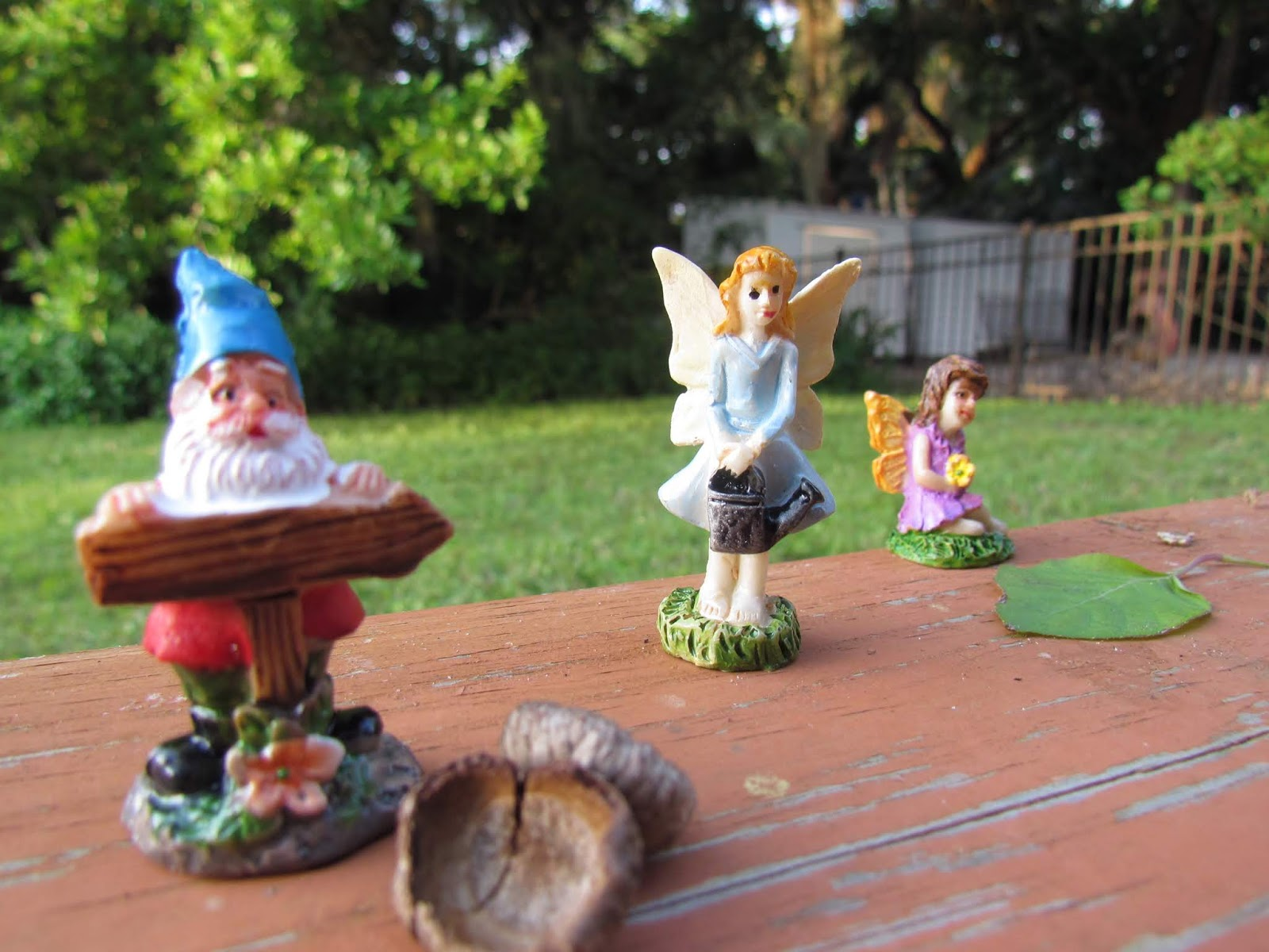 Tree Gnomes and Tree Elves Toy Figurine Fairies and Woodland Creatures