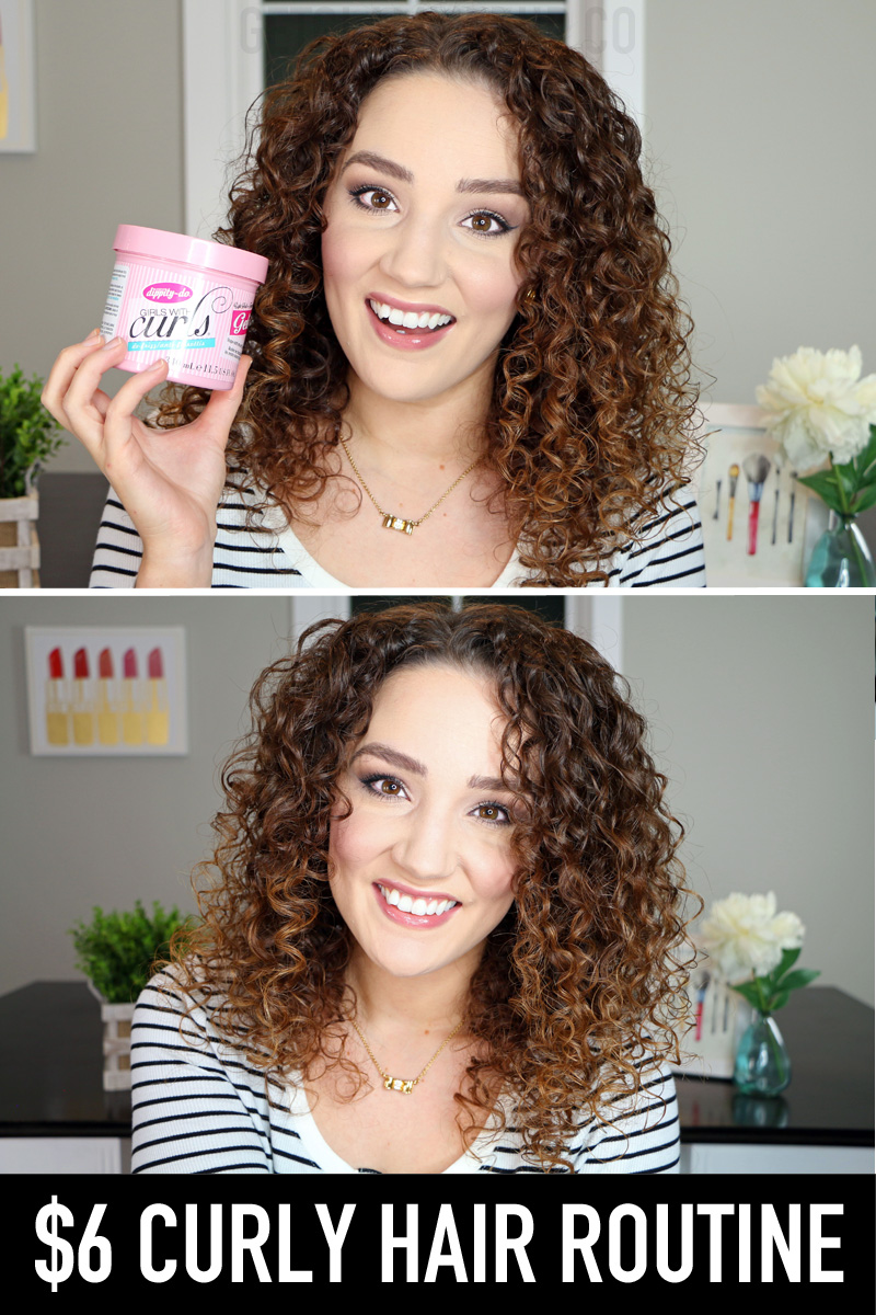 Affordable Curly Hair Routine using Dippity Do Gel