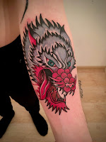 traditional wolf tattoo