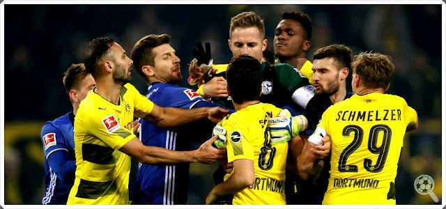 Derby Dortmund Schalke 04 fight