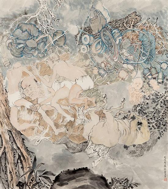 drawing Yun-Fei Ji Tumbling, 2017-2018