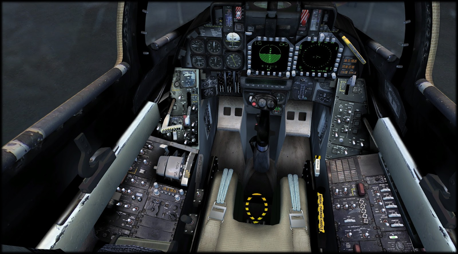 IndiaFoxtEcho Visual Simulations: F-14D Tomcat WIP - cockpit