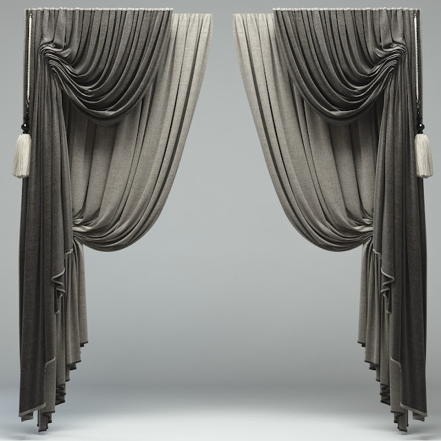black and grey modern curtain designs 2016