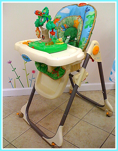 rainforest high chair wooden design dining kids grow