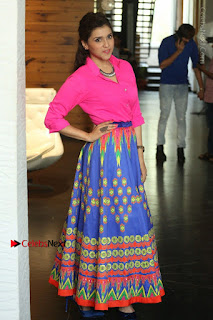 Actress Mannar Chopra in Pink Top and Blue Skirt at Rogue movie Interview  0085.JPG