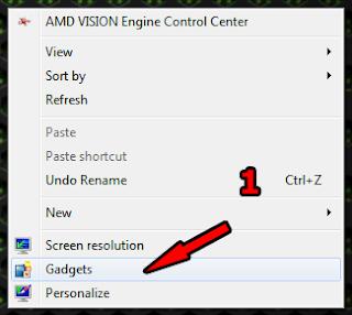 Love Windows Blog: Add Gadget Windows 7