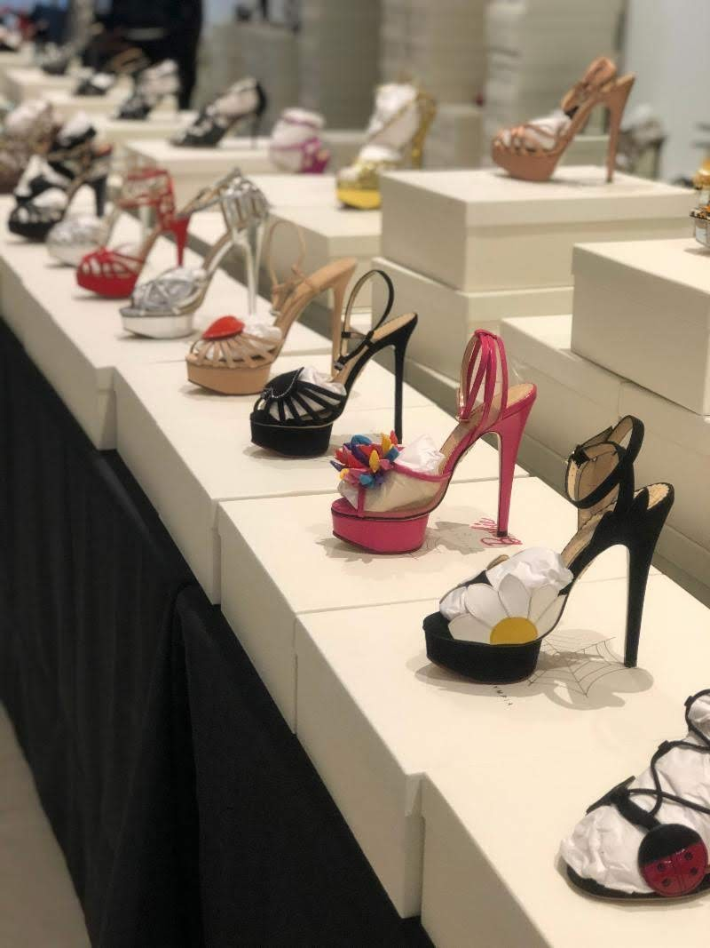 Charlotte Olympia sample sale high heel shoes
