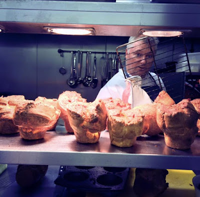 The Blackbird Pub, Ponteland - chef Ian Lowry Sunday lunch giant yorkshire puddings