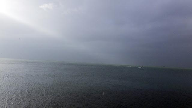 台風後 東京湾