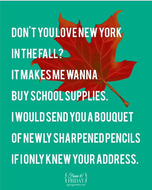 Fall Printable about New York and pencil bouquets