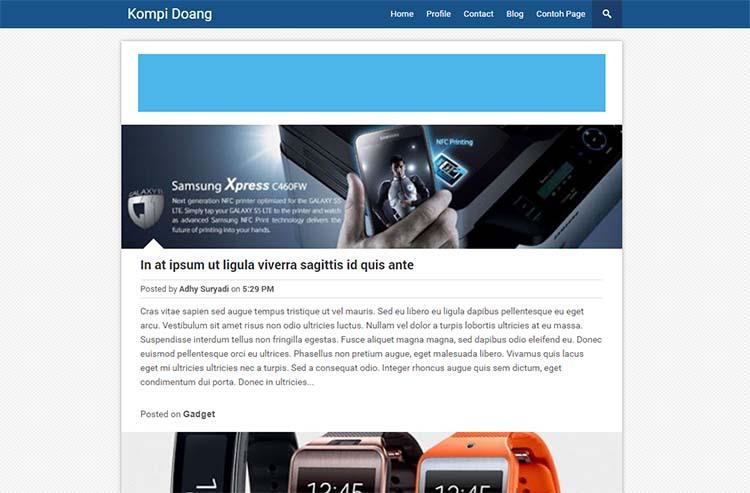 Free Blogger Template - Kompi Doang