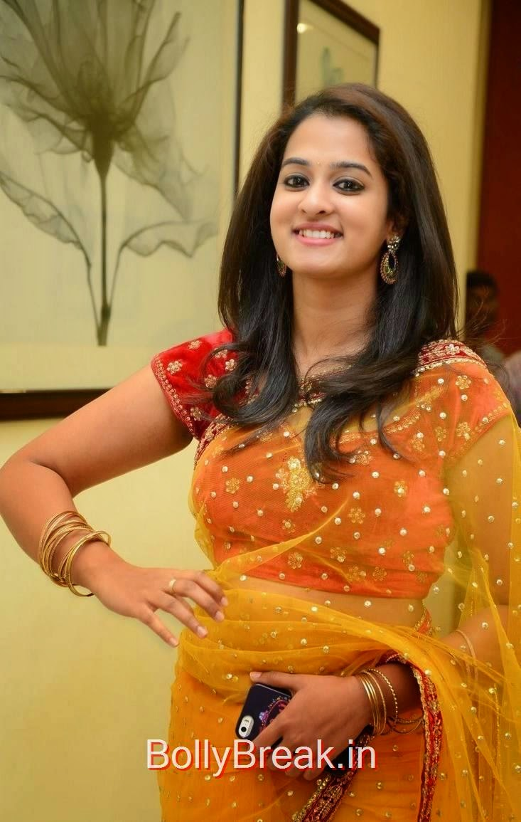 Nanditha Photoshoot Stills, Actress Nanditha Yellow Saree Navel pics in HD from Ram Leela Movie