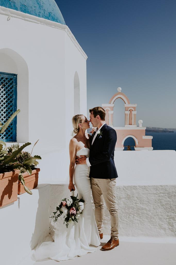 LOVE: GEORGIA & JASON   SANTORINI ELOPEMENT WEDDING