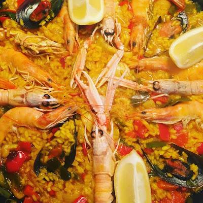 paella, arroz de marisco, arroz, preparado de el lidl