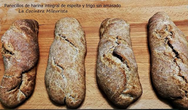 Panecillos De Harina Integral De Espelta Y Trigo (sin Amasado)