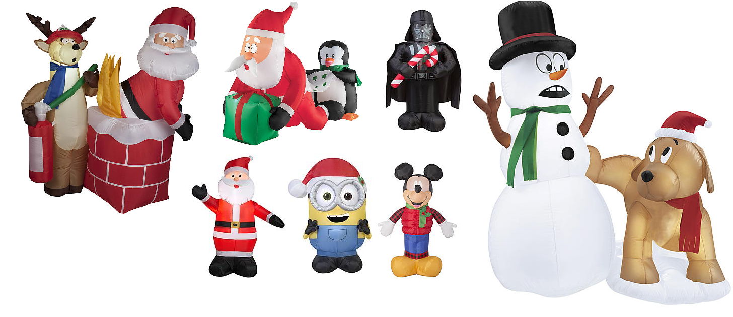 50% off Inflatable Christmas Decorations: 4\