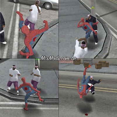 gta sa san andreas spider-man ps4 mod j16d fight