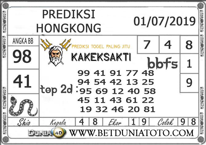 Prediksi Togel HONGKONG DUNIA4D 01 JULY 2019