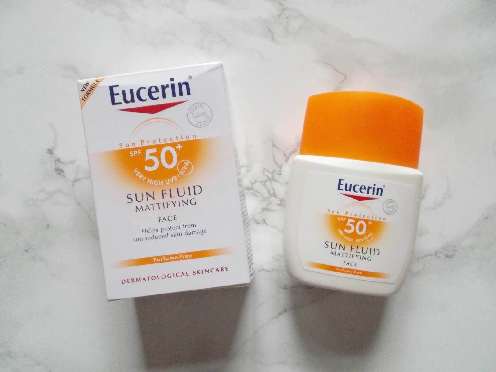 Eucerin spf 50 mattifying sun fluid face
