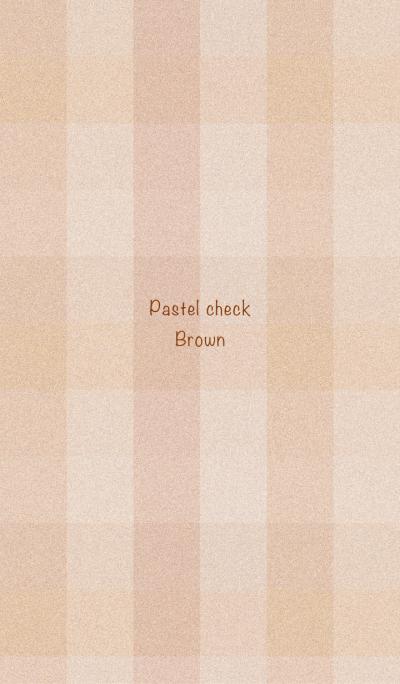 Pastel check -Broun-