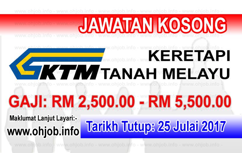 Jawatan Kerja Kosong Keretapi Tanah Melayu Berhad - KTMB logo www.ohjob.info julai 2017