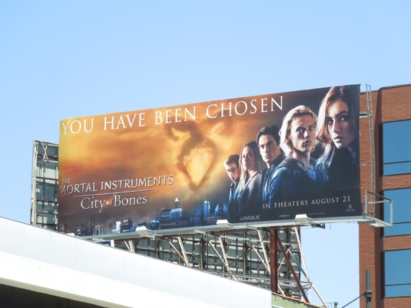 Mortal Instruments City of Bones film billboard