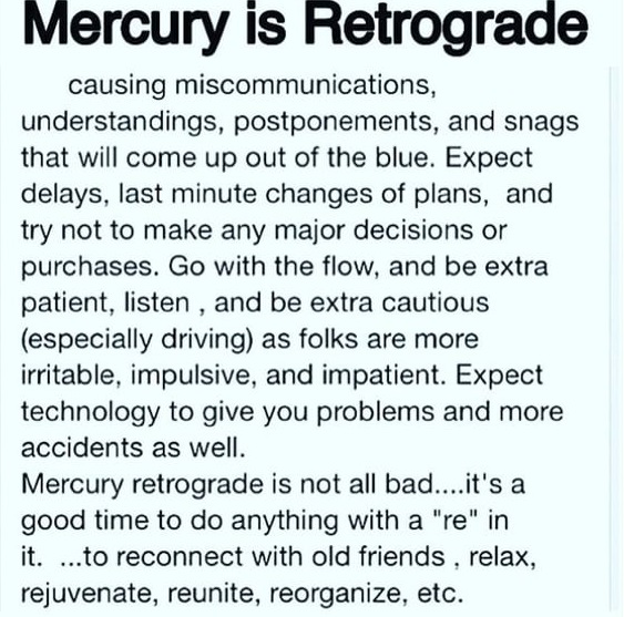The Afro Librarian: Mercury Retrograde Will Debo Your Entire