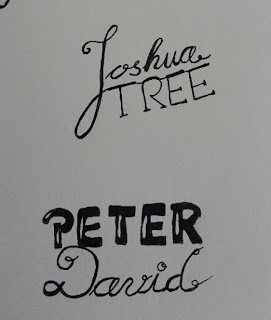 Lettering: Joshua Tree und Peter David