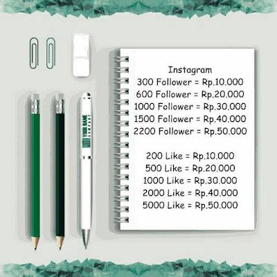 Daftar Harga Like dan Follower Instagram